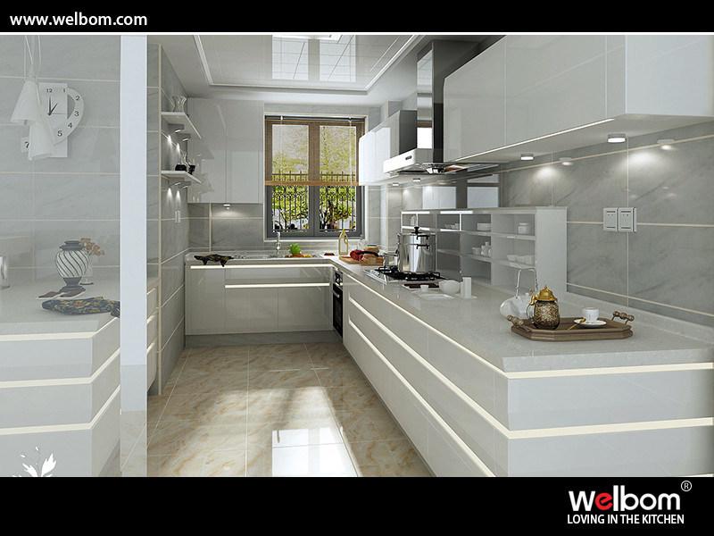 China Intelligent Gloss Polyurethane Kitchen Cabinet ...