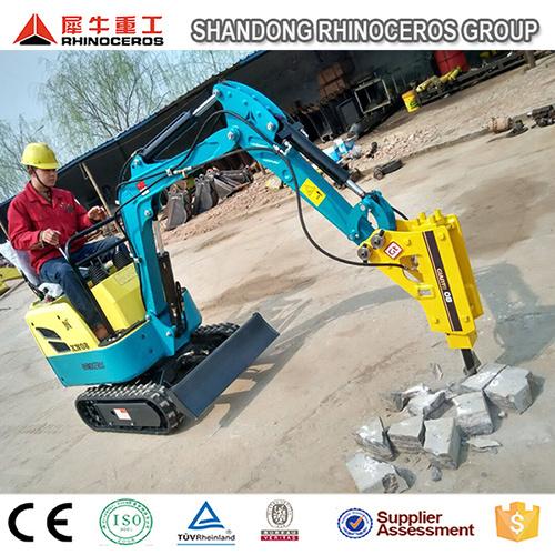 [Hot Item] 0 8t 1 5t Hydraulic Excavator with Hammer, Mini Excavator Prices