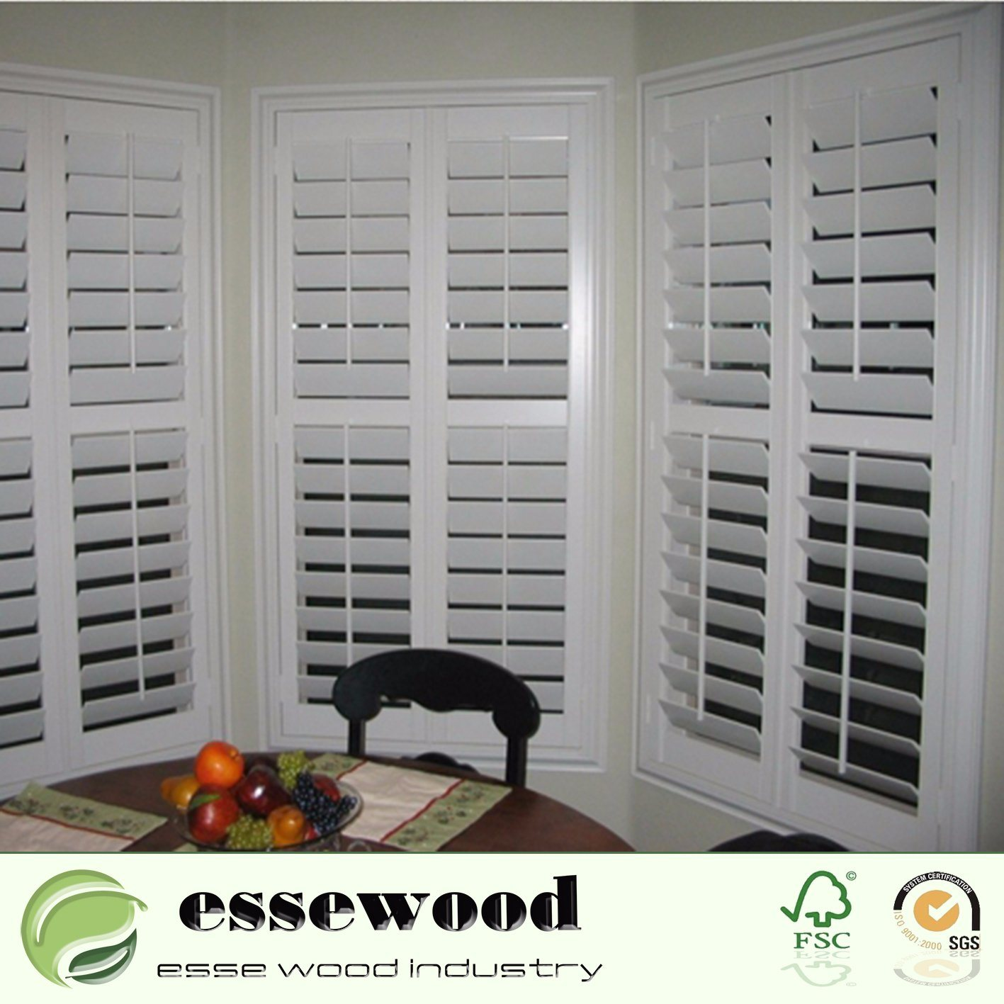 China Plastic Pvc Plantation Window Shutter For Bedroom Window Treatments China Wood Shutter Window Shutter