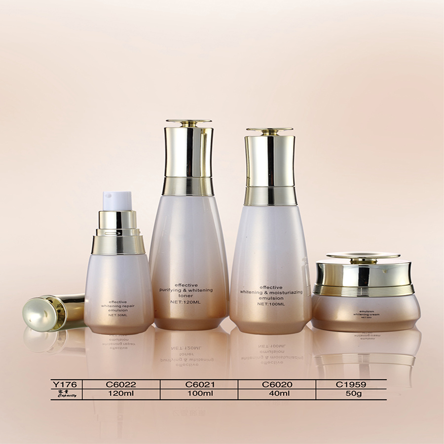 Luxury 20g - 120g Cosmetic Glass Skin Bleaching Cream Jars and Bottles
