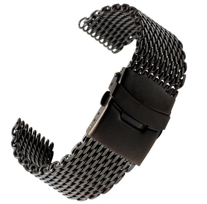 China 18 20 22 24mm Silver Black Gold Stainless Steel Watchband ...