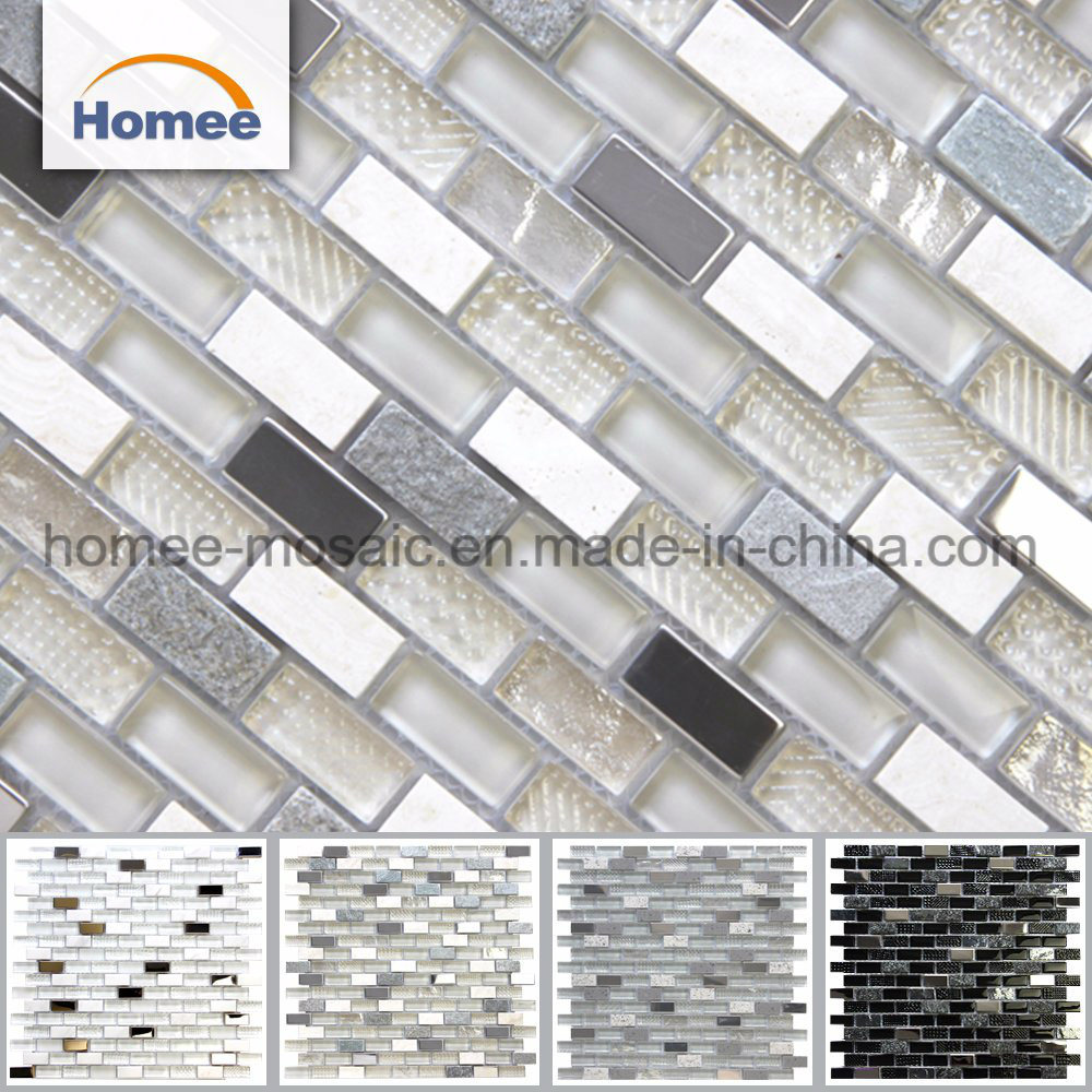 China Glitter Wall Mirror Broken Ice Le Diamond Crystal Glass Mosaic Tile Building Material