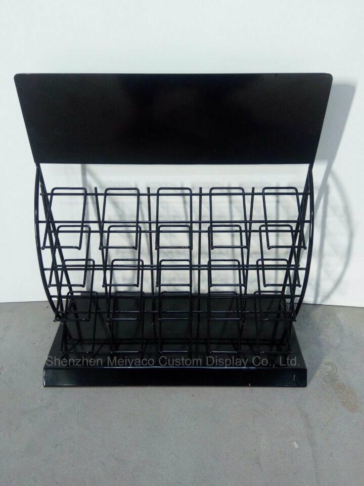 China Black Powder Coated Metal Ceramic Wall Rack Ceramic Tile