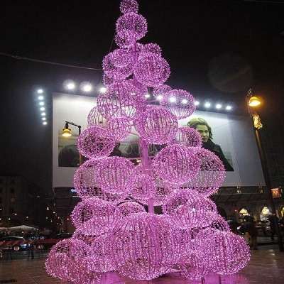 Outdoor Christmas Decorations 2019.Hot Item 2019 Red Led Acrylic Christmas Tree Decoration Light