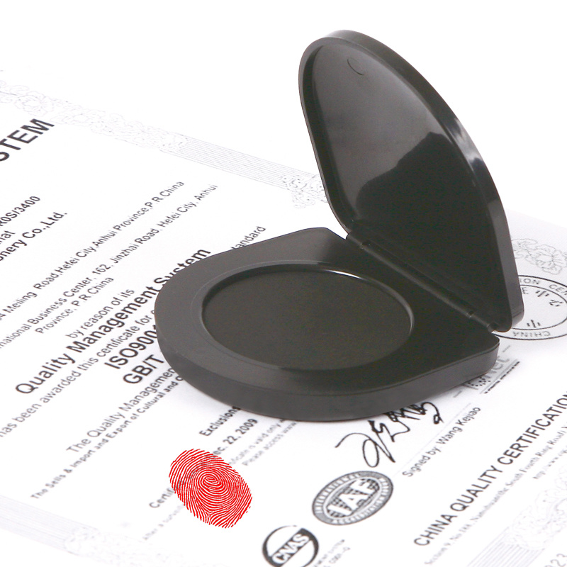 Hot Sale Round Office Fingerprint Stamp Pad