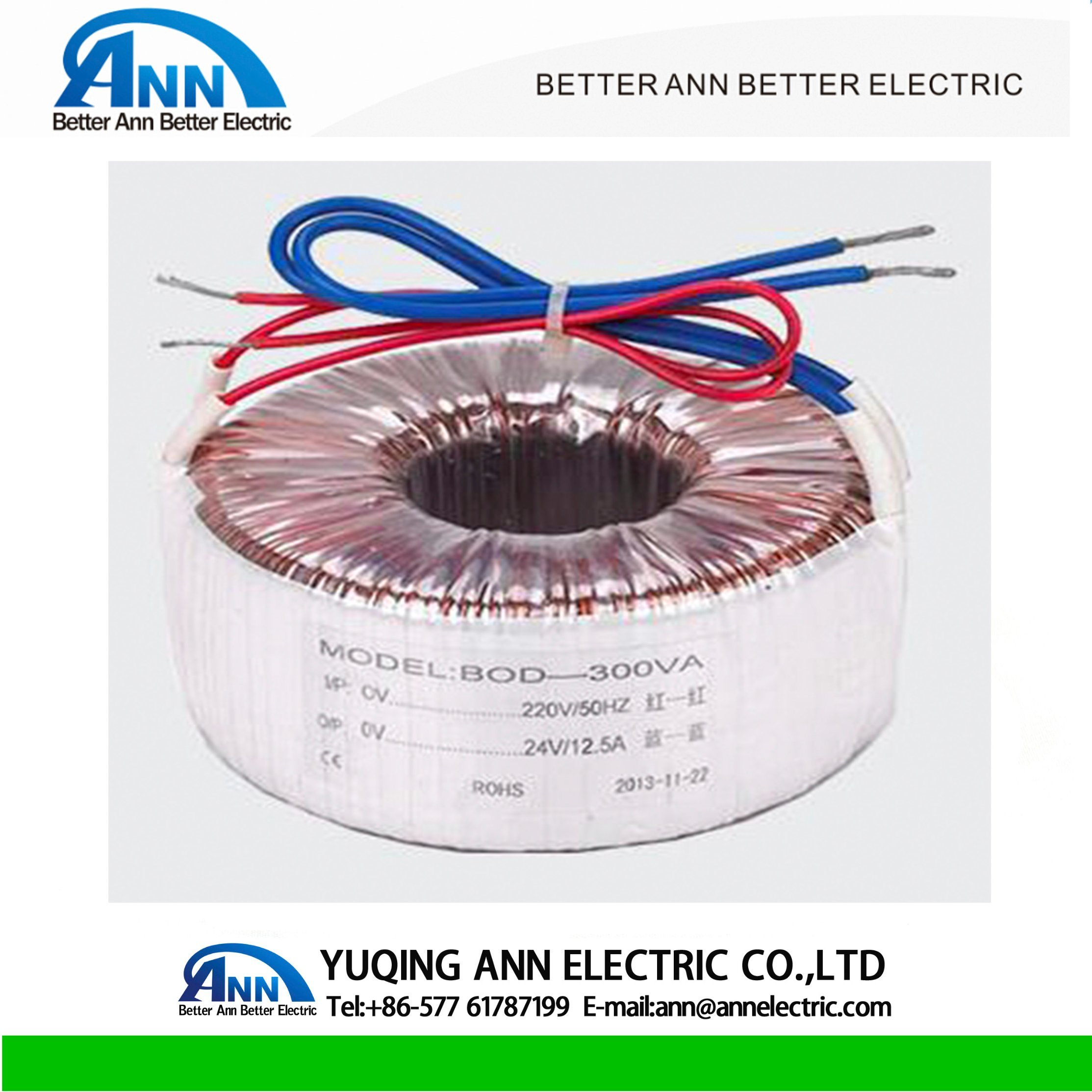 China Single Phase 30w Copper Wire Electric Toroidal Transformer Electrical Wiring Output 20 5000va
