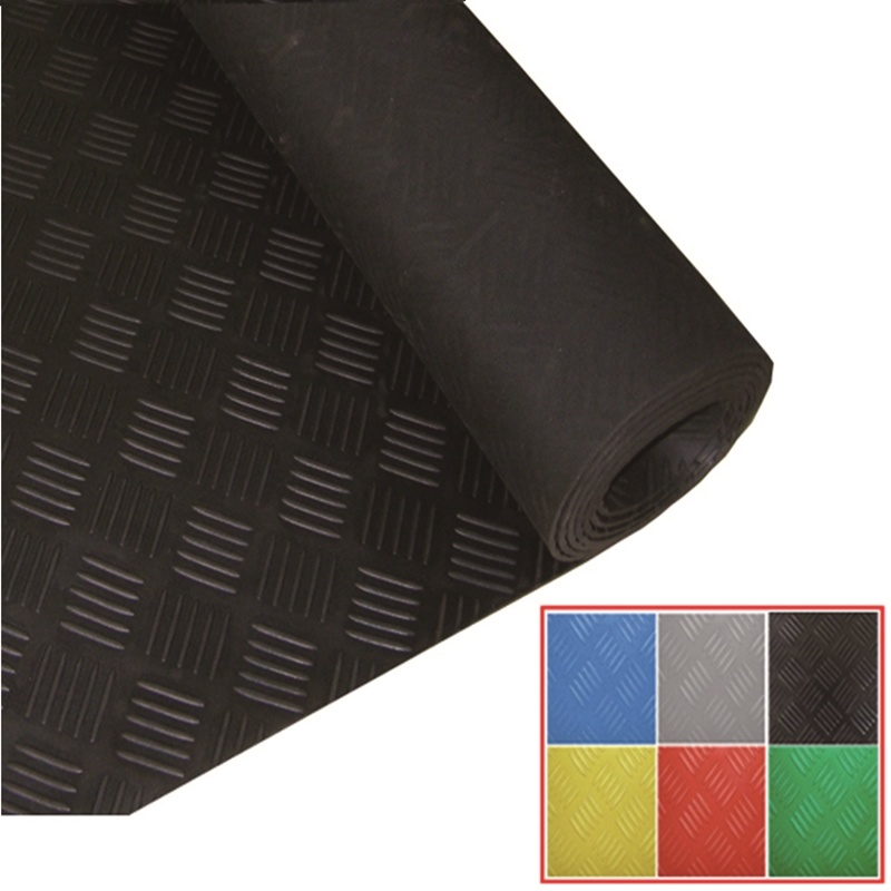China Checker Plate Rubber Sheet Mat