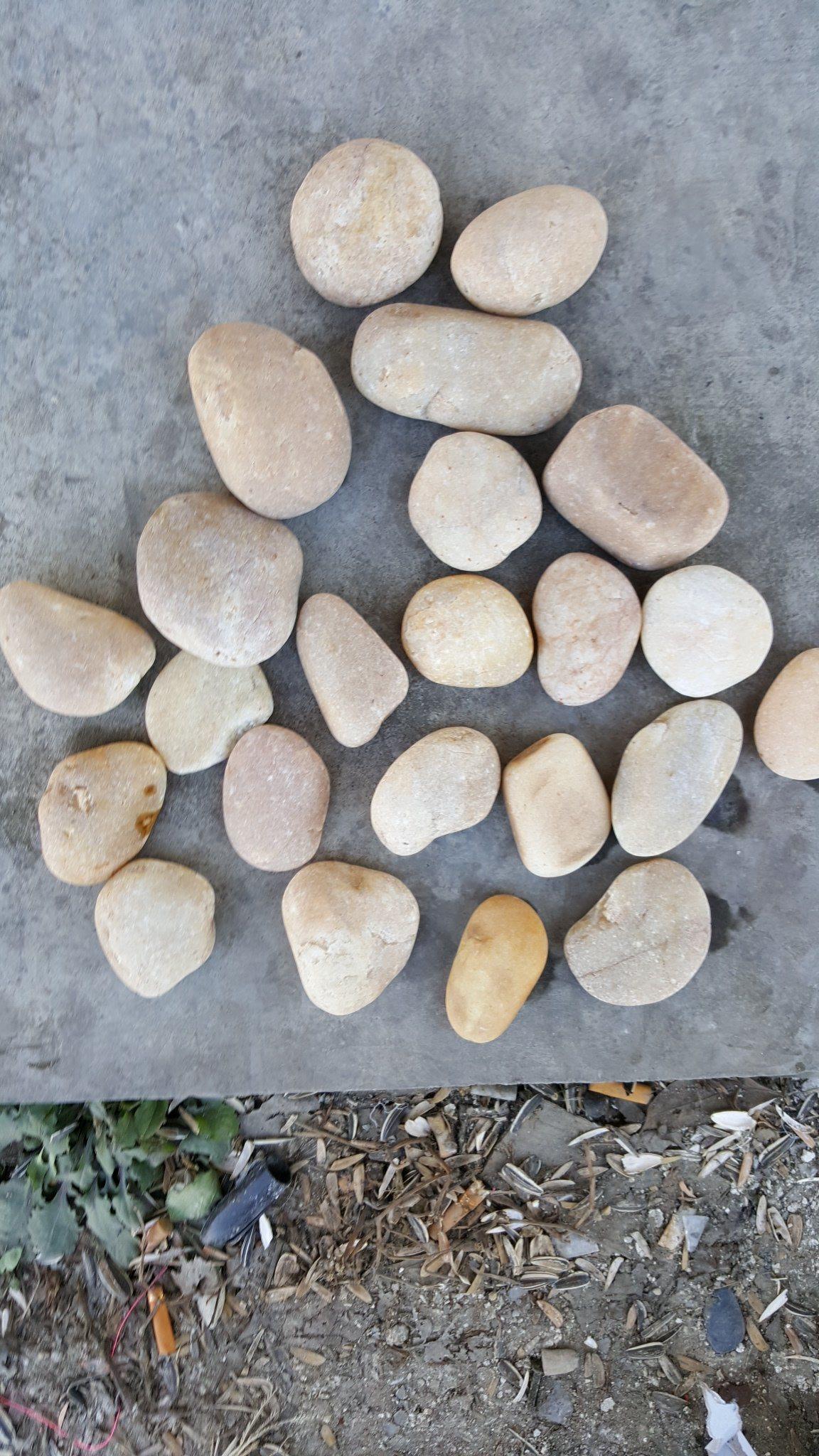 China Polished Pebble Stone Sliced