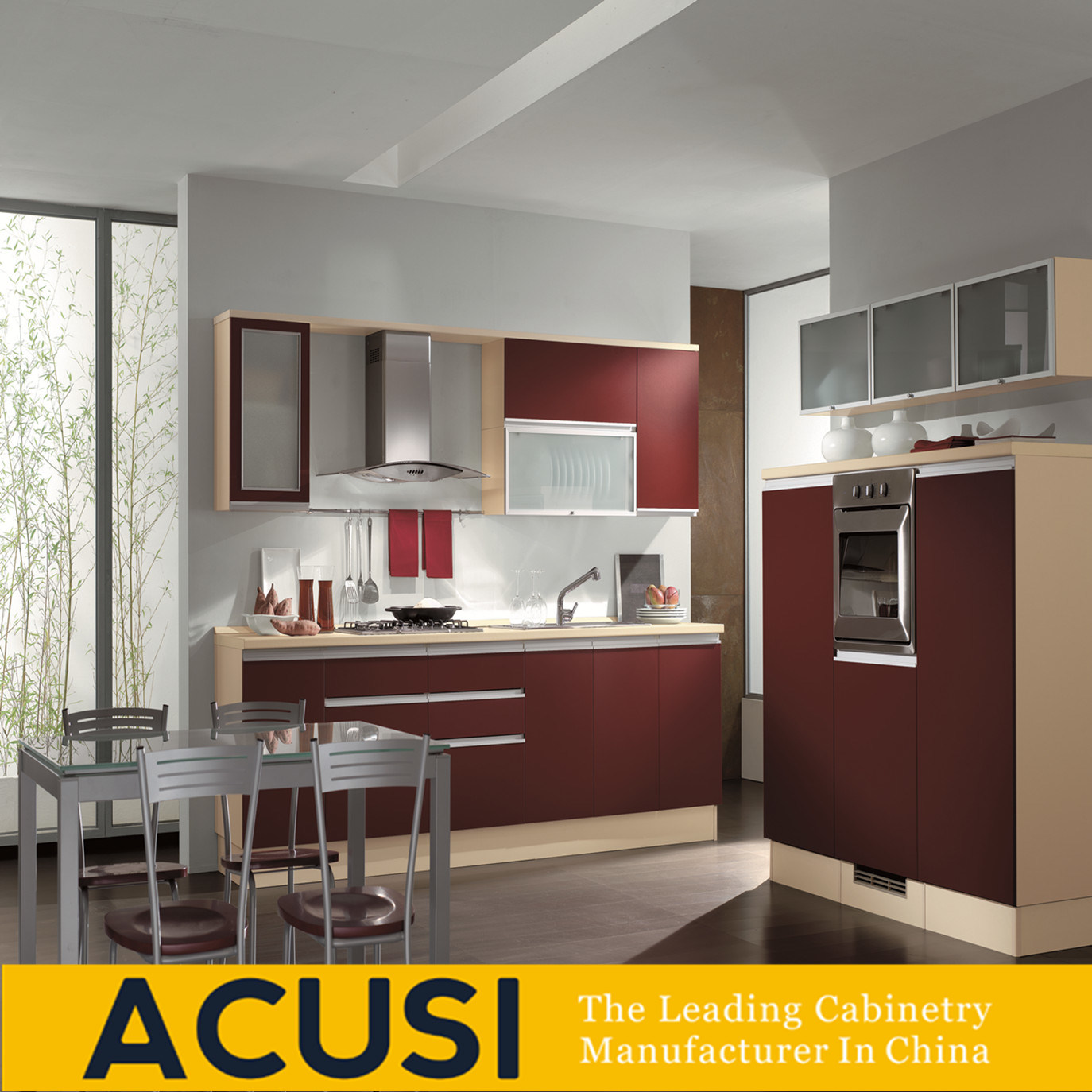[Hot Item] Wholesale Modern Lacquer Particle Board Wood Kitchen Cabinet  (ACS2-L188)