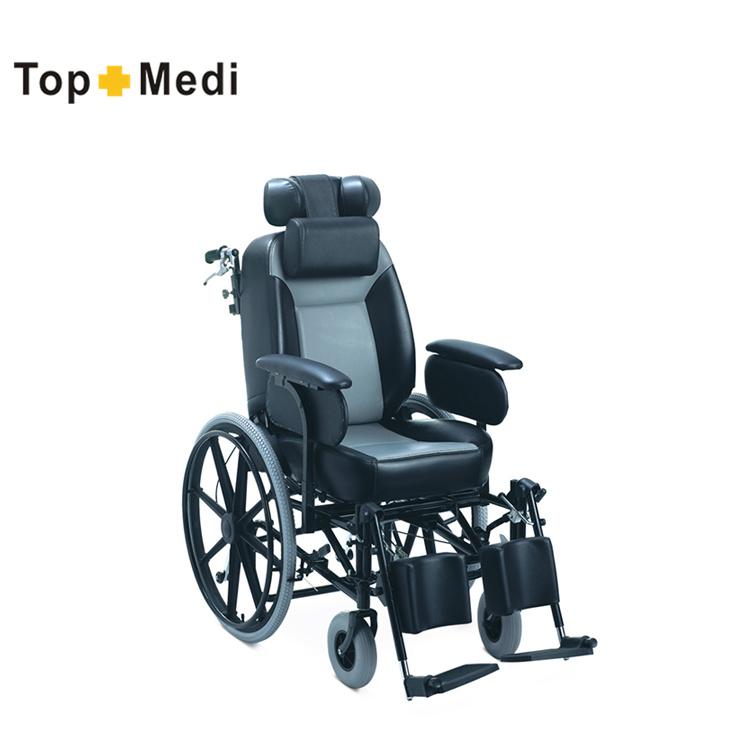 official photos 4291d aeda9 China Topmedi Reclining Manual Wheelchair Trw204bj Wheel Chair Parts -  China Wheelchair, Cerebral Palsy Wheelchair
