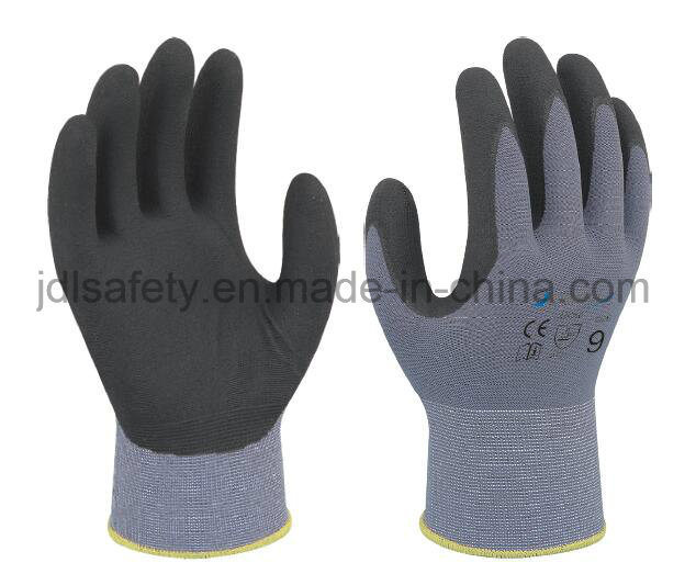 Micro-Foam Nitrile Dipping Safety Gloves with Comfortable Fitting (N1554)