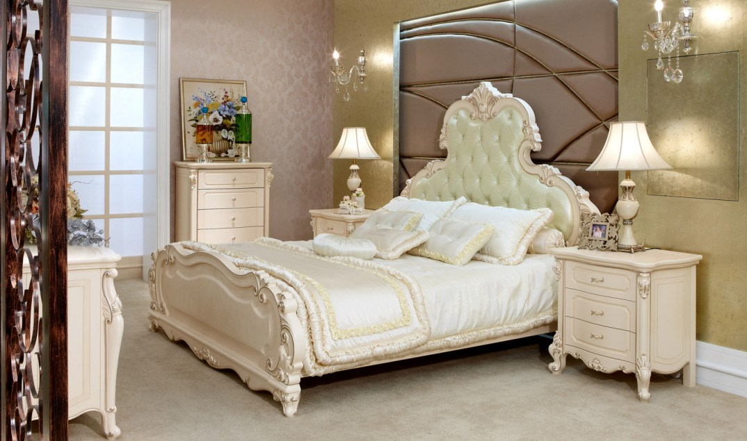 China lh5106 solid wood neoclassical pearl white bedroom - Solid wood youth bedroom furniture ...
