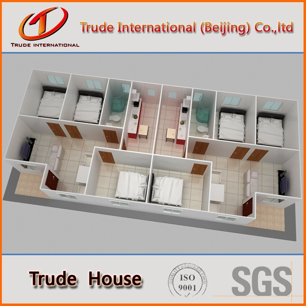 Customized Fast Installation Modular/Mobile/Prefab/Prefabricated Family Living House