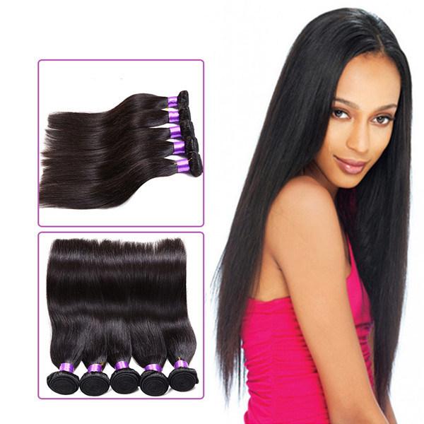 China Wholease Brazilian Hair Straight Brazilian Hair Sew In Weave
