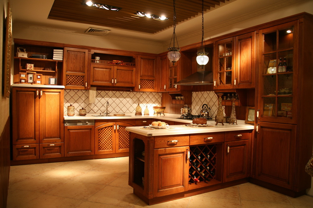 chinese kitchen cabinet china american kitchen cabinets raised style solid wood 2180