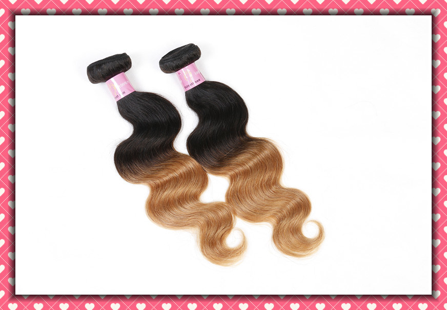 Ombre Color Human Hair Peruvian Virgin Hair Body Wave 18inches pictures & photos