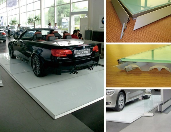 China Auto Show S Shop Modular Exhibition Display Floor Stage GC - Car show display flooring