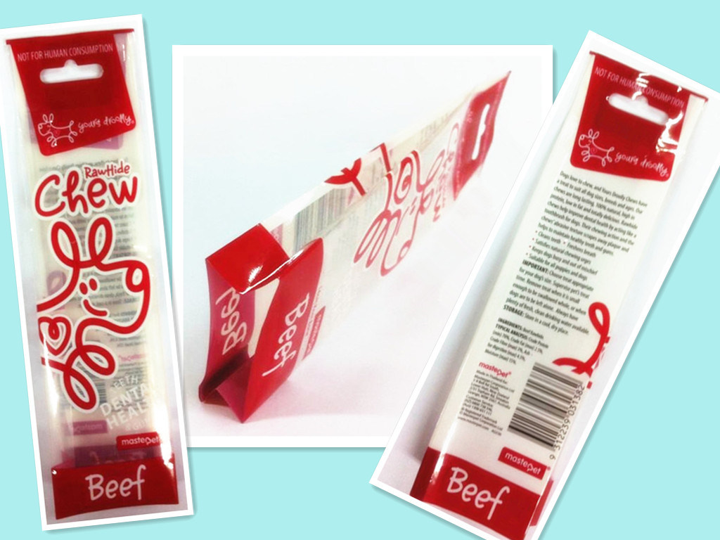 Plastic Side Gusset Pet Food Packaging