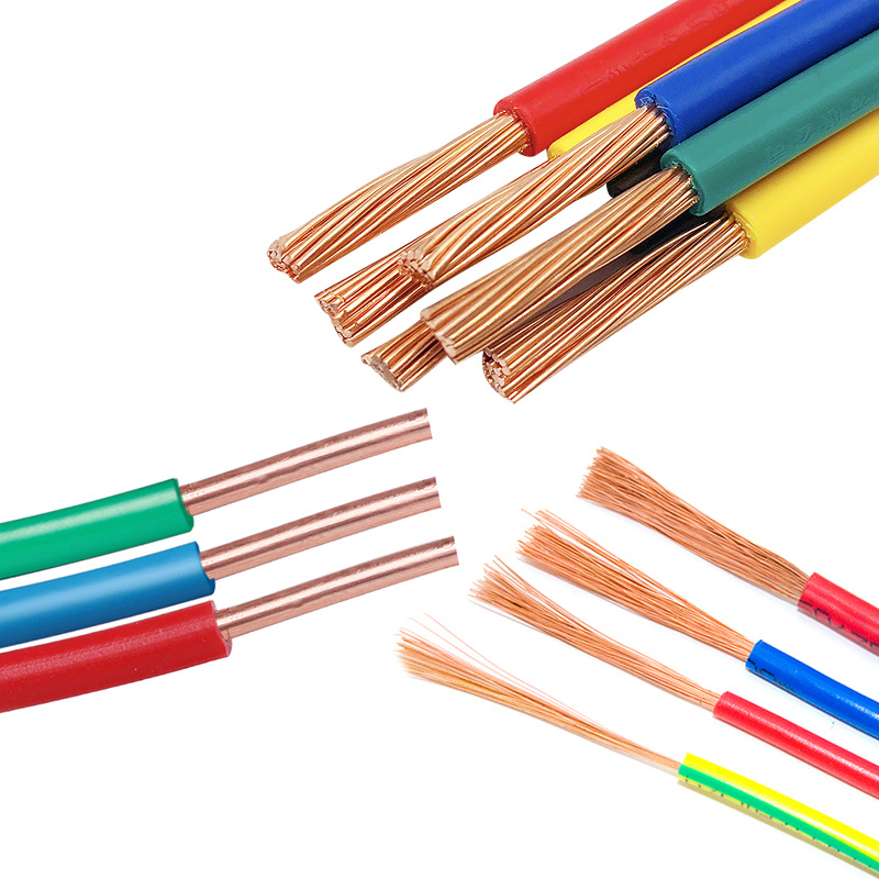 China Flexible Single Core PVC PE FEP PFA Electric Cable