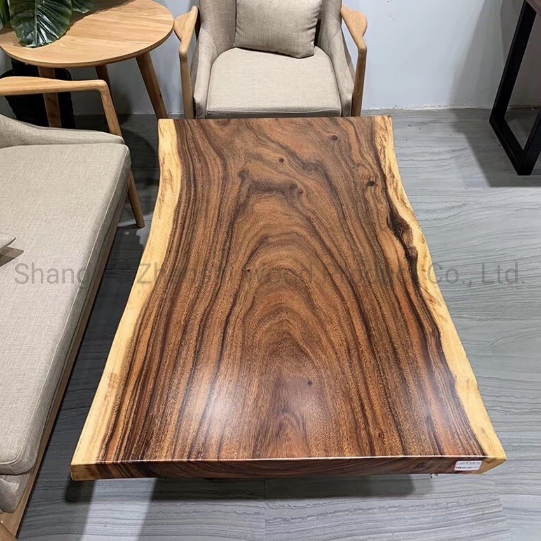 China Live Edge Coffee Table Raw Edge Slab Table Photos Pictures Made In China Com