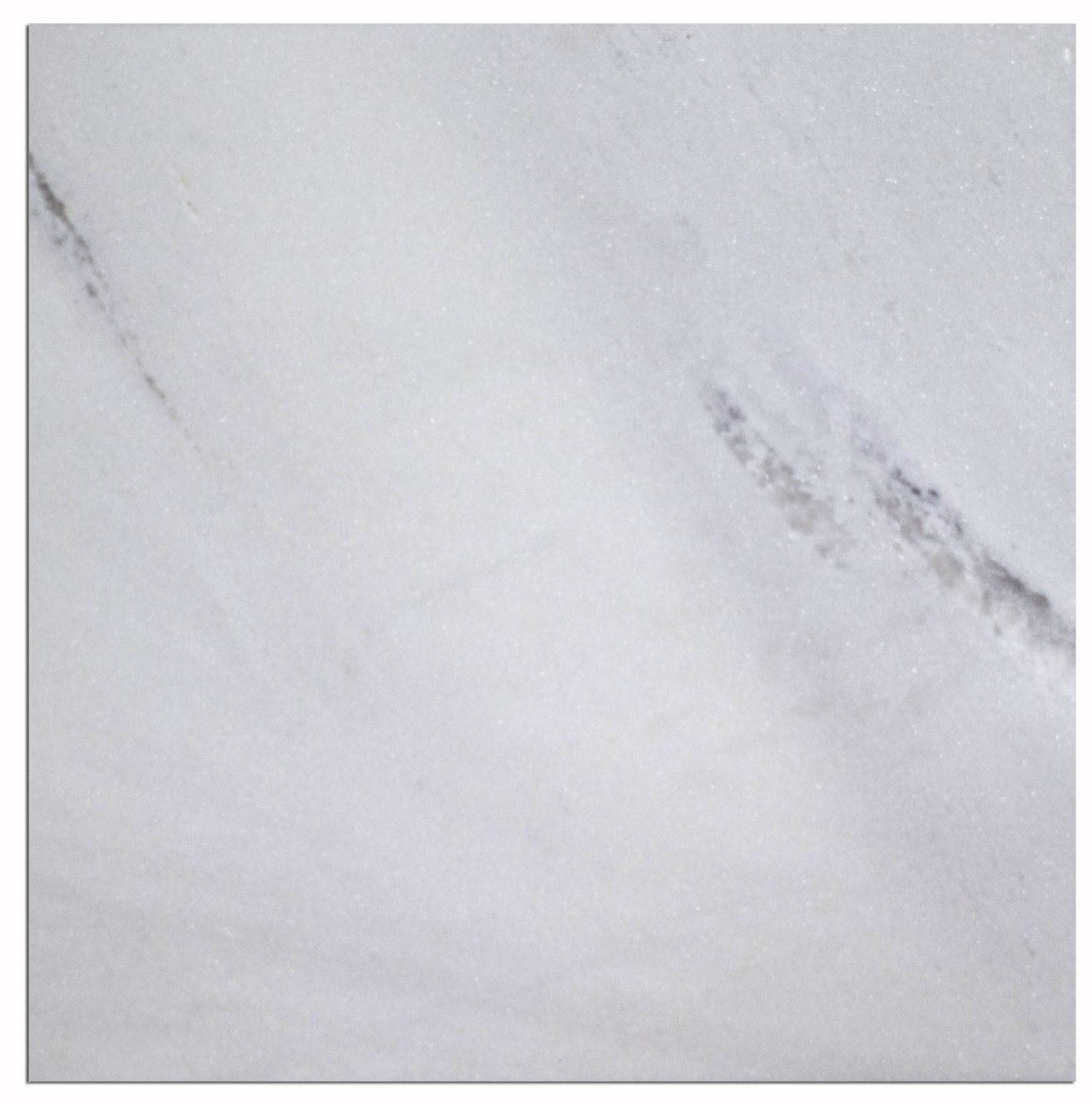 China 24X24 Inch Bianco Sivec Pure White Marble Tiles Slabs