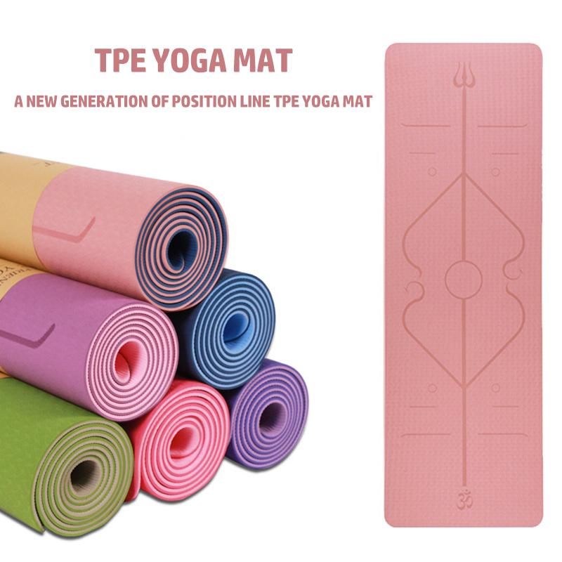 China Factory Wholesale Tpe Yoga Mat Eco Friendly Tasteless Non Slip Sports Fitness Yoga Mat China Yoga Mat And Gym Equipment Price