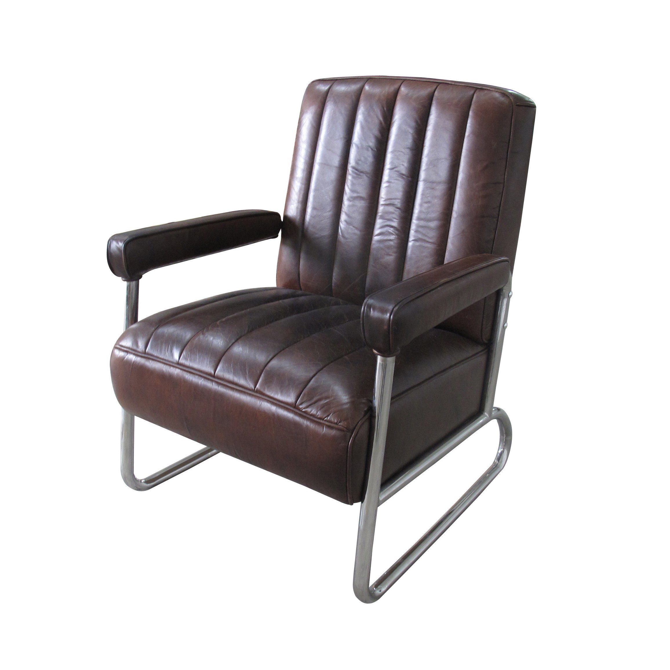 China Vintage Cow Leather Chair Industrial Furniture Loft Style Metal Living Room Chair Furniture Photos Pictures Made In China Com
