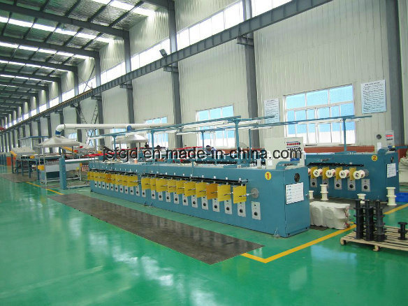 Copper Alloy Wire Annealing Tinning Bunching Twisting Stranding High Capacity Production Machine (FC-T40)