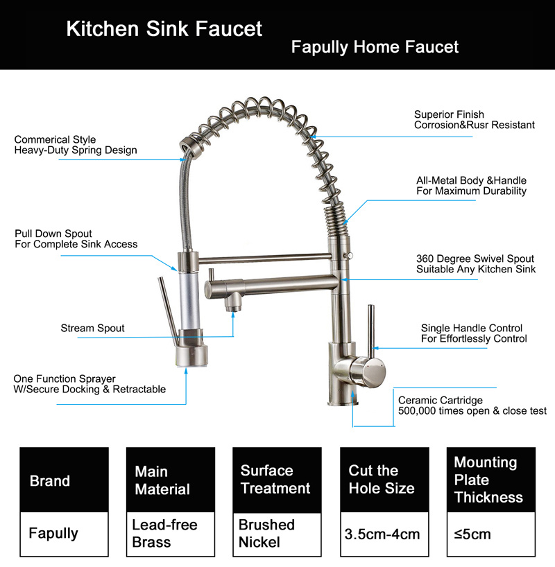 Flg Kitchen Faucet with Pull Down Vessel Sink Faucet/Tap/Mixer pictures & photos