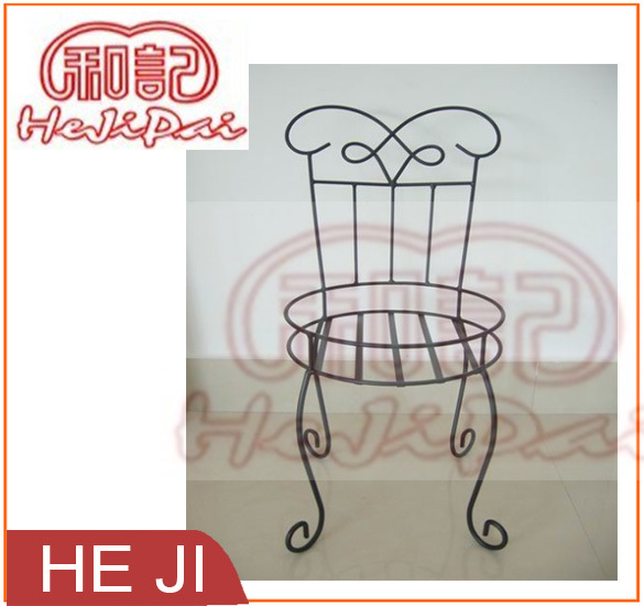 Wire Scroll Style Flower Pot Stand/Holder in Powder Coating Black