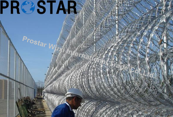 China Durable Mobile Security Barrier Looped Razor Wire - China Barb ...