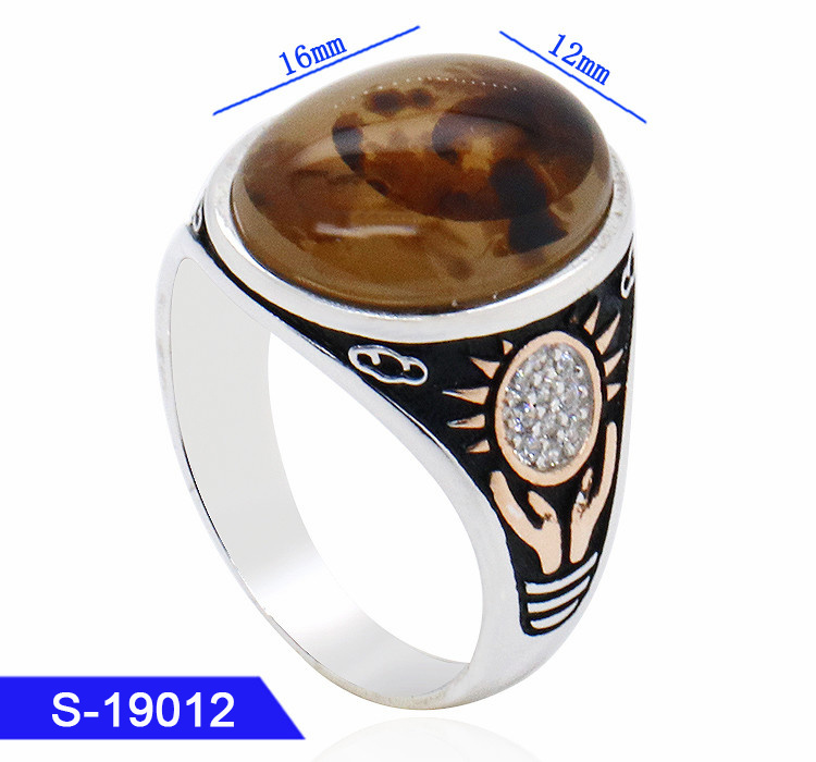 New Fashion Jewelry 925 Silver Islamic Finger Rings for Mens pictures & photos