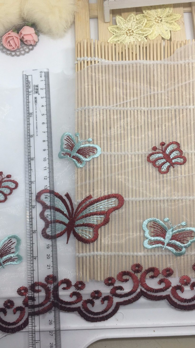 27cm Width Embroidery Trimming Net Lace for Garments & Home Textiles & Bedding Accessories