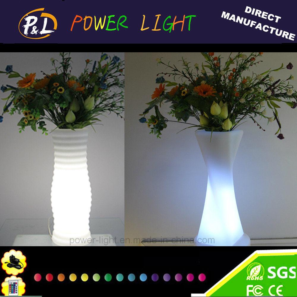 Foshan Power Light Energy Saving Technology Co. Ltd. & [Hot Item] LED Light up Round Garden Decoration LED Flower Vase