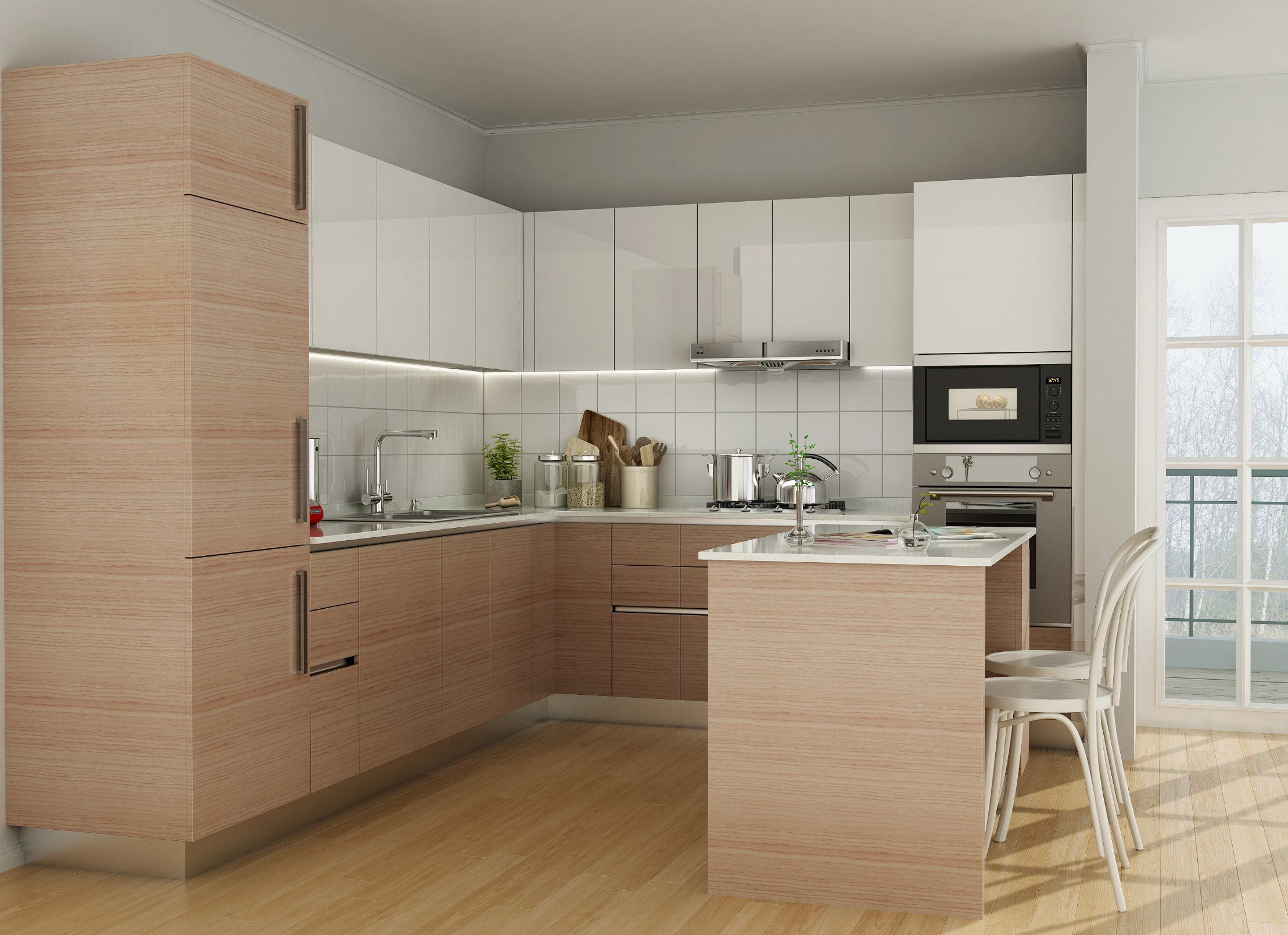 Is Mixing Kitchen Cabinet Finishes Okay Or Not: Mixed Color Kitchen Cabinets