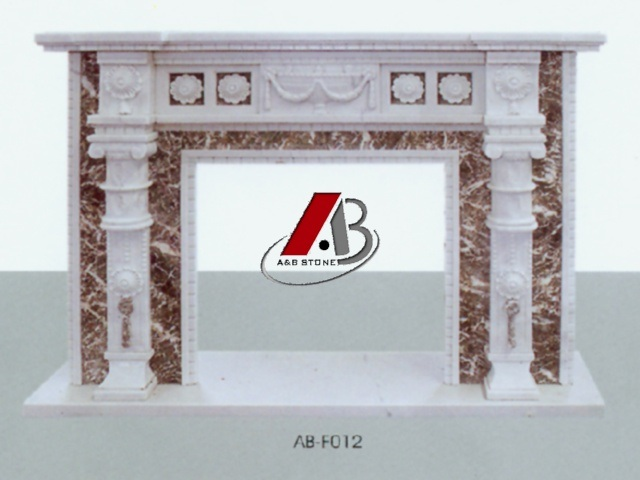 Marble Fireplace Mantel with Nice Carvings in European Style pictures & photos