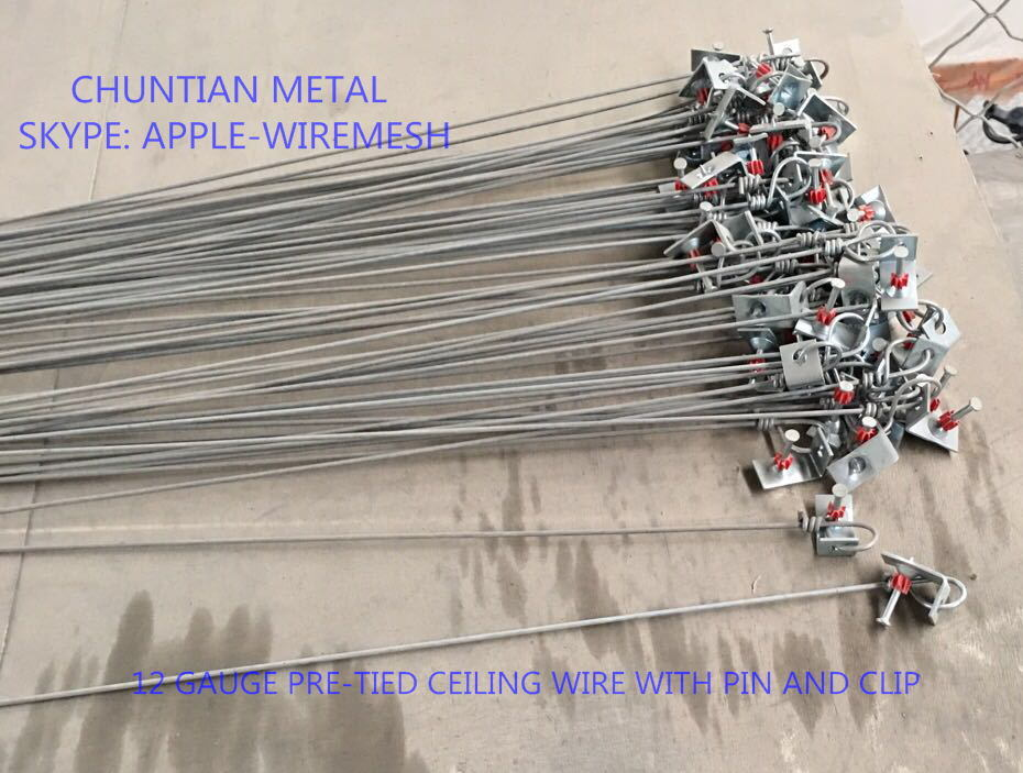 China 12ga Pre-Tied Ceiling Hanger Wire with Pin and Clip Photos ...