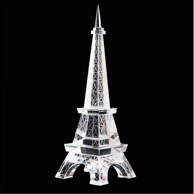 Crystal Glass Eiffel Tower Craft for Gift