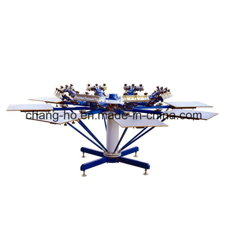 8 Color Garment Screen Printing Table