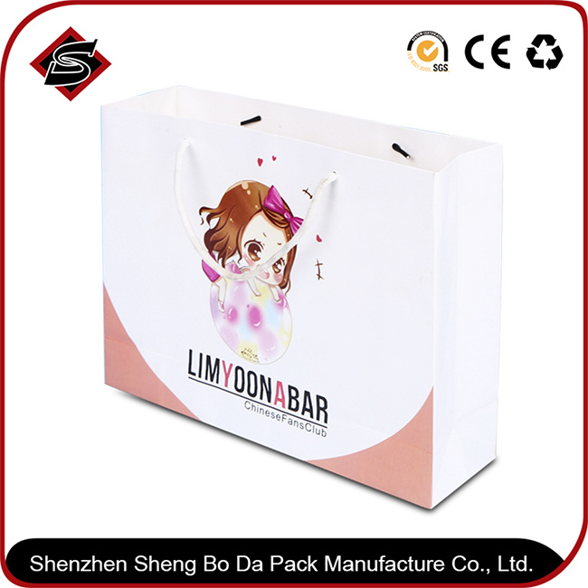 Portable Customzied Logo Printing Paper Gift Shopping Packaging Bag