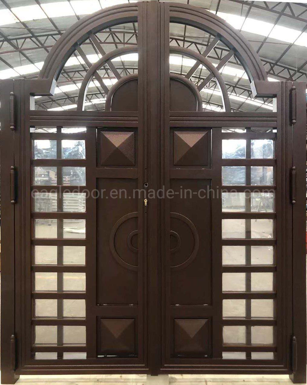 China Stainless Steel Storm Security Design Doors Exterior Double Door China Courtyard Door Metal Screen Fencing