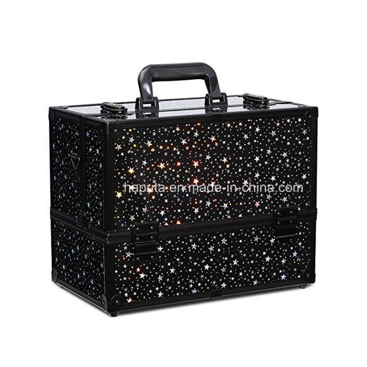 Starry Sky Makeup Case 6 Trays Large 14