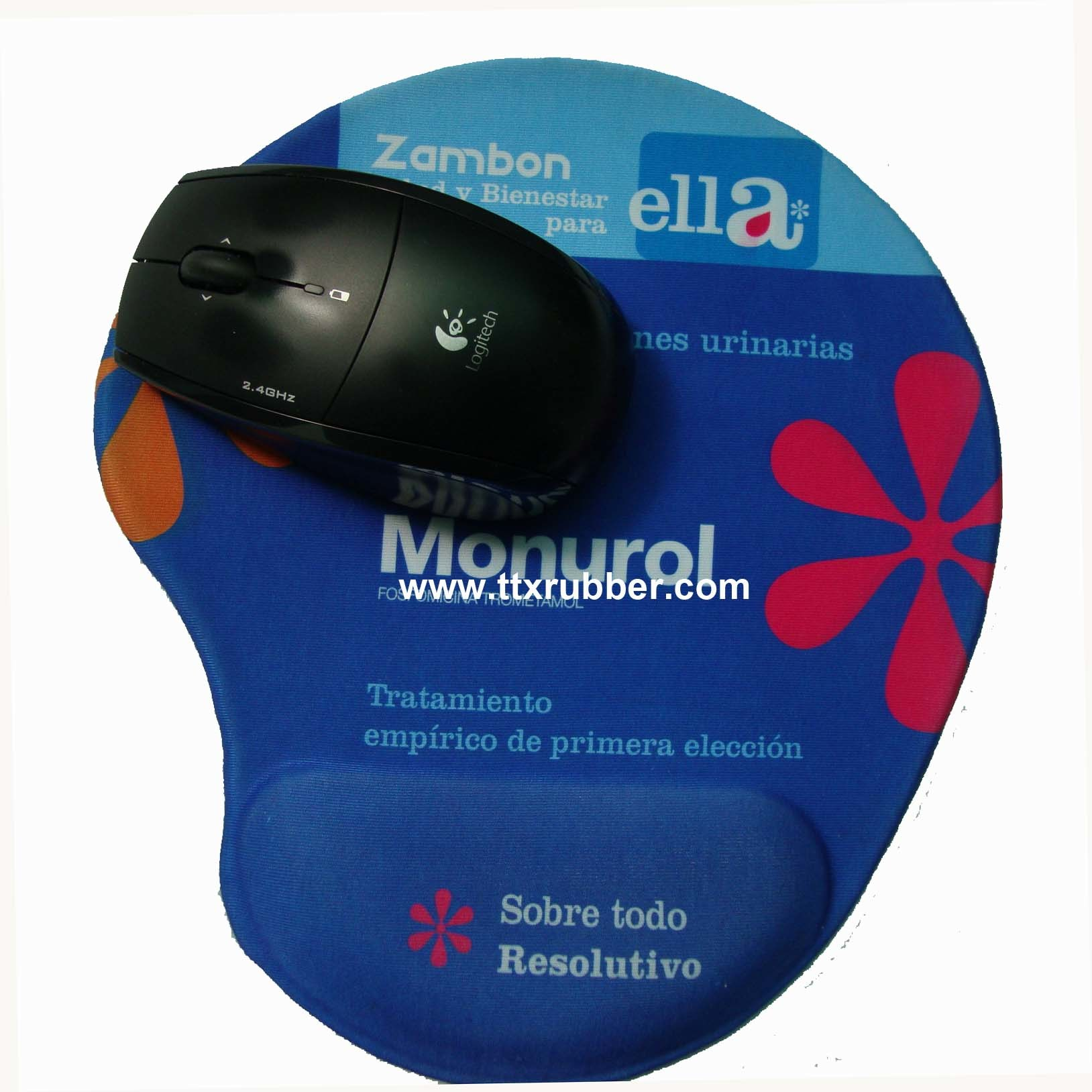 Hot Item Printed Gel Mouse Pad With Wrist Rest