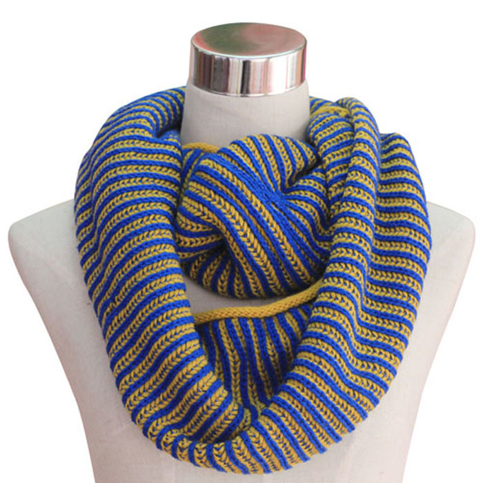 Women Fashion Acrylic Cashmere Pashmina Knitted Winter Infinity Scarf (YKY4186)