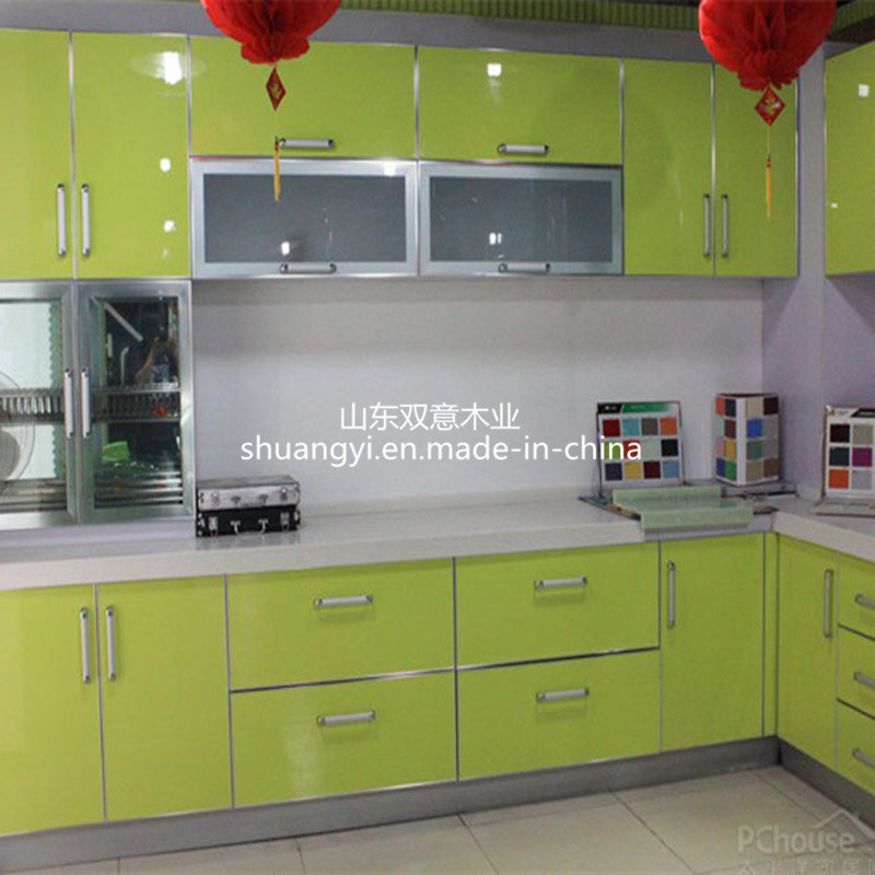 High Quality Chinese Made Glossy Pvc Coated Kitchen Cabinet