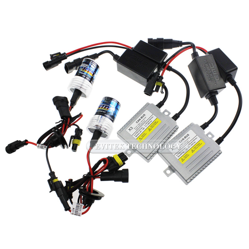 35W//55W HID Xenon Bulbs Headlight Slim Ballast Conversion Kit H11 All Color
