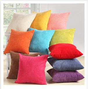 Colorful Corduroy Fabric Sofa Cushion (T114)