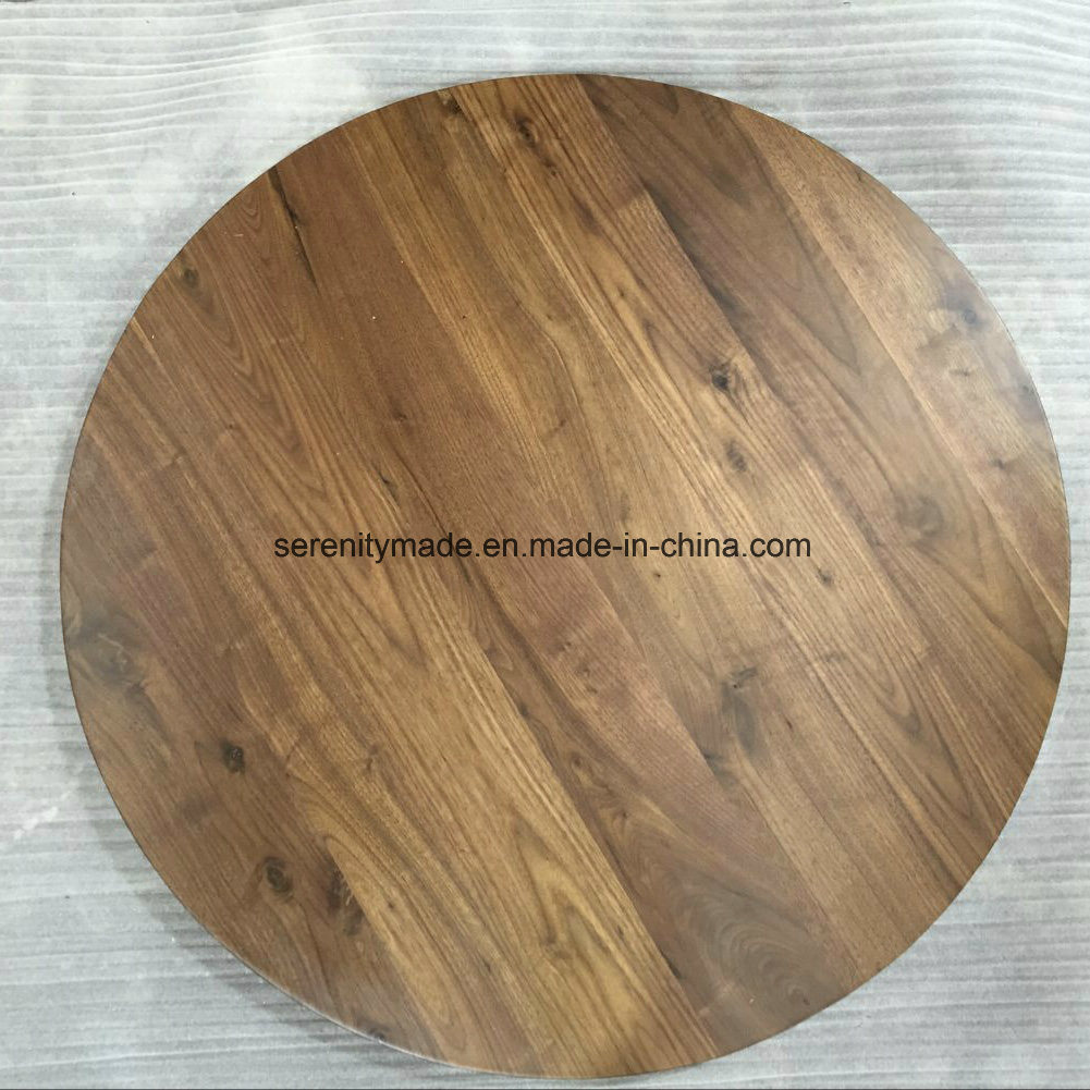 China Hospitality Vintage Timber Bar Table Black Cast Iron Base
