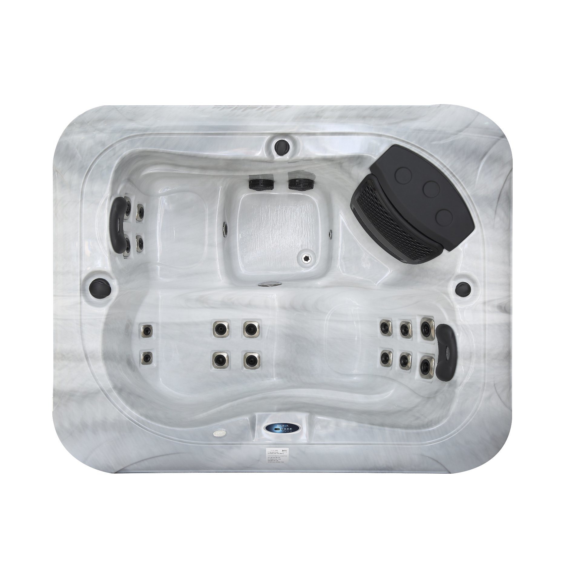 China Mini 2 Person Outdoor Balboa Control Spa Whole Hot Tub M 3399 Led