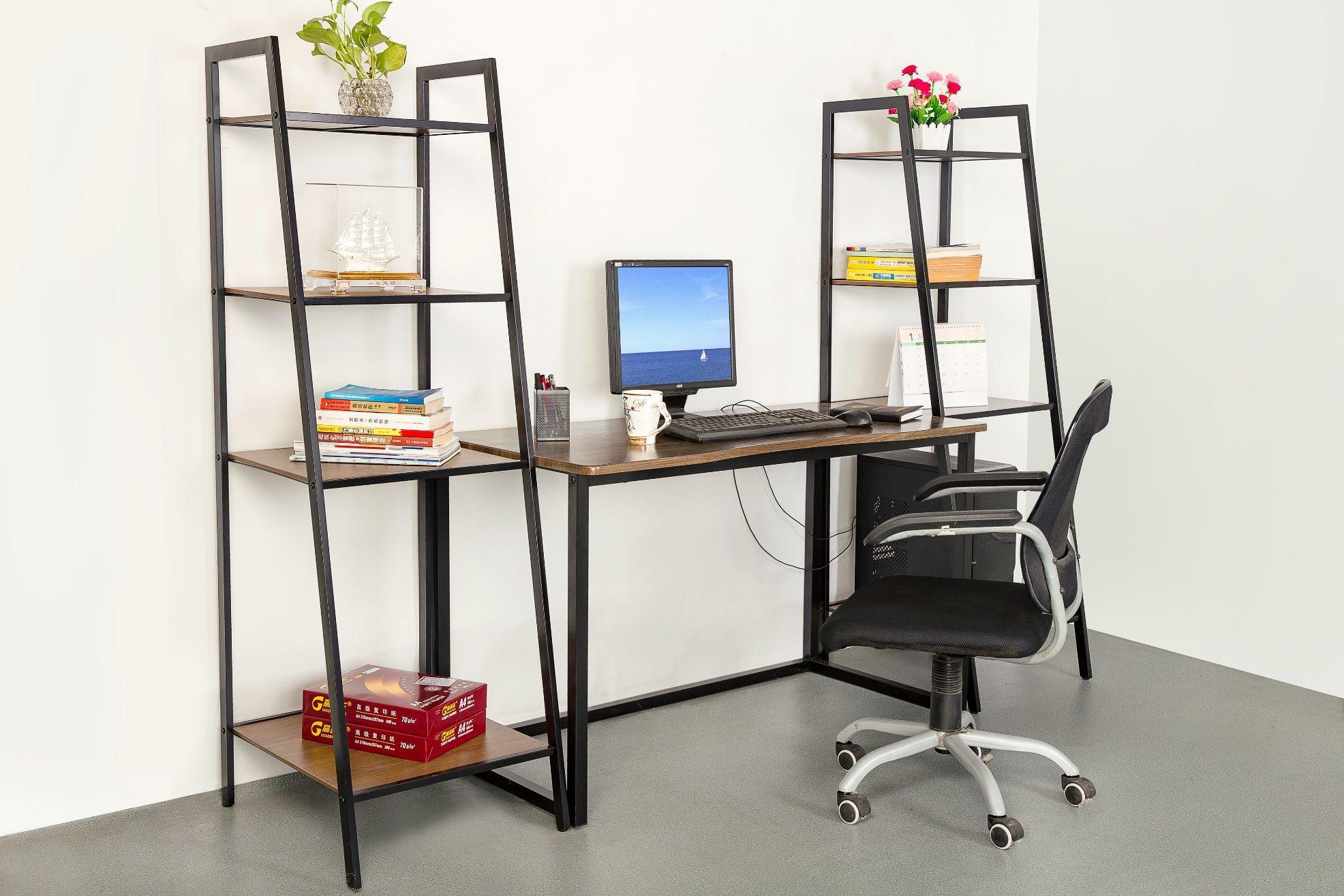 [Hot Item] Home Office Study Storage Computer Desk Shelf Book Table with  Bookshelf